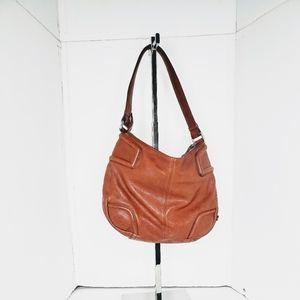 Cole Haan Cognac Brown Pebble Leather Shoulder bag